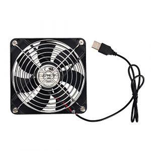 ELUTENG USB Ventilateur 120mm Ventilateur de refroidissement Silencieux 5V Roulement Ventilateur