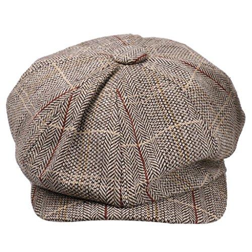 femmes chapeau d 39 automne hiver coton b ret gavroche casquette boulanger newsboy cap mode kaki. Black Bedroom Furniture Sets. Home Design Ideas