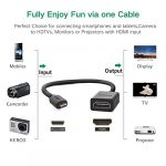 UGREEN Micro HDMI vers HDMI Câble Mâle vers Femelle 4K Plaqué Or 20cm