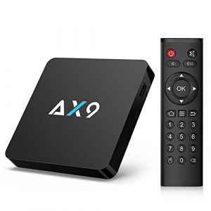 Bqeel Cyber Monday AX9 TV Box Android 7.1 4K HD Quad Core 1Go Rom 8Go eMMC Android TV Box WIFI IEEE 802.11b/g/n 2.4G