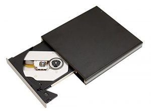 Firstcom Lecteur externe BD/DVD/CD Slim pour Ordinateur/ordinateur portable/ultrabook Windows/Mac OS/Apple MacBook/Pro/Air/iMac DVD±RW Brenner