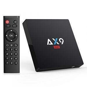 2018 Bqeel AX9 MAX Android 7.1 TV Box 2GB RAM 16GB ROM Quad-Core 64bit Wi-Fi 2.4G 802.11 b/g/n Gigabit 4K Android TV Box (2+16G)