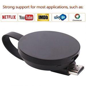 ATETION 【Version mise à jour】1080P HDMI sans fil dongle 2.4G émetteur et récepteur Partager les médias de l'iPhone, iPad, Samsung Andorid à la télévision/moniteur/projecteur, soutien Miracast/Airplay/DLNA