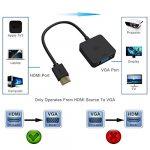 ICZI Adaptateur HDMI vers VGA 1080P Convertisseur HDMI Mâle à VGA Femelle Compatible avec Macbook, PC, Ordinateur Portable, Ecran, TV Box , HDTV , Ultrabook , XBOX ,Projectuer – Noir