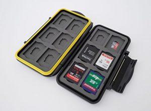 Ares Foto® Boîtier de protection pour cartes mémoire pour 12 SD and 12 Micro SD Cards