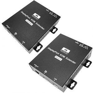 BeMatik – Extension vidéo DisplayPort 4K UltraHD 1080p à Travers Un câble réseau Cat.5e 150m USB RS232