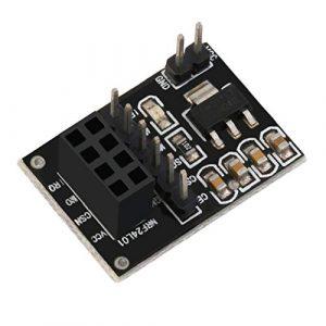 Redstrong Carte de Plaque d'adaptateur de Prise pour Le Module d'émetteur-récepteur sans Fil NRF24L01 + à 8 Broches Directement connectée à la Carte système