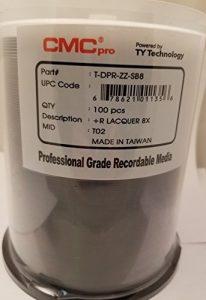 CMC Pro Alimenté par la Technologie TY DVD + R 8x Argent Laque 100Pièces Spindle