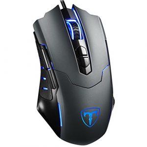 Pictek Gaming Mouse, [Nouvelle Version] PC Souris d'ordinateur pour Gamer