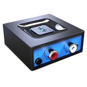 Adapteur Audio Bluetooth pour la Diffusion de Musique vers la Système Audio, Esinkin Adapteur Audio Sans-fil Fonctionne avec Smartphones et Tablettes, Récepteur Bluetooth pour Haut-parleurs