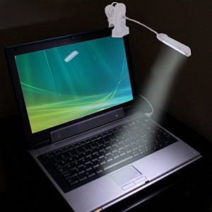 ENHANCE Lampe Led Clipsable – Liseuse Alimentation USB avec Cou Flexible – Pour Ordinateurs/Notebooks : Apple MacBook, Asus Chromebook/Tablettes : Apple Ipad, Samsung Galaxy Tab/ Bureau, etc.