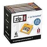 Iomega Zip 100MB PC Formaté Disques (lot de 6)