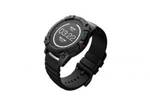 MATRIX PowerWatch – Montre intelligente sans charge – Comptage calorie – Monitoring sommeil – Recharge chaleur corporelle – Noir et argenté – 46 mm