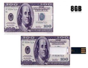 Cmeeos 100 dollars 8GB card uSB flash drive