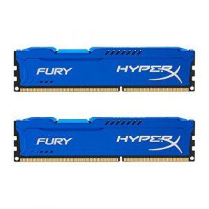 HyperX Fury HX316C10FK2/16 Mémoire RAM 16Go 1600MHz DDR3 CL10 DIMM Kit (2x8Go) Bleu