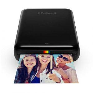 Polaroid Zip – Imprimante Équipée de la Technologie d'Impression sans Encre Zink, 5 X 7,6 cm, Micro USB, Bluetooth, Compatible avec iOS et Android, Noir