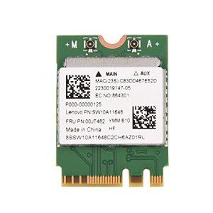 Richer-R Carte WiFi, Bluetooth 4.0 + 2.4G/5G Double Bande sans Fil WiFi Mini NGFF/M2 Carte pour Ordinateur Portable