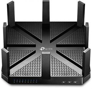 TP-Link Routeur 5400Mbps Wi-Fi Gigabit Tri-Bande: 1000 Mbps en 2.4 GHz, 2x 2167 Mbps en 5 GHz, 5 ports Ethernet Gigabit, 1 port USB 3.0 + 1 port USB 2.0 (Archer C5400)