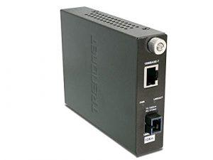 TRENDnet – Convertisseur FIBRE Monomode 1000MBPS T vers 1000Base-FX, TFC-1000S10D3