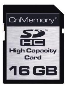 CnMemory SD-HC Card 16GB 16Go SDHC mémoire flash – Mémoires flash (16 Go, SDHC, 40 Mo/s, Noir)