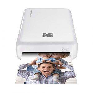 Kodak – Imprimante Photo Mini 2 HD, Instantanée, sans Fil et Mobile, Technologie d'Impression Brevetée 4Pass, Compatible avec iOS et Android, Blanc