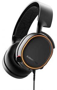 SteelSeries Arctis 5 – Casque de Jeu à Éclairage RVB – Son Surround DTS Headphone:X v2.0 pour PC et PlayStation 4 – Noir [Édition 2019]