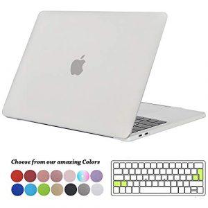 Tecool Coque MacBook Pro 13 Pouces 2016/2017/ 2018, Mince Plastique Rigide Case Matt Étui avec Housse de Clavier en Silicone pour MacBook Pro 13 avec/sans Touch Bar Modèle:A1706/ A1708/ A1989 -Clair