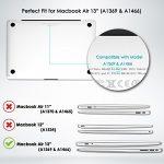 Top Case 4en 1Bundle Deal–Coque rigide caoutchoutée, Housse de clavier Couleur assortie, protection d'écran et manches Sac pour MacBook Air