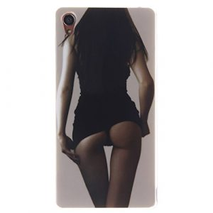 Coffeetreehouse Coque Sony Xperia Z3, Housse Etui Protection Full Silicone Souple Ultra Mince Fine Slim pour Sony Xperia Z3, Sony Xperia Z3 Étui en TPU Silicone – Sexy Girls
