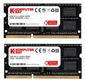 Komputerbay 16GB Kit (2 x 8 Go) 204 broches DDR3-1867 SO-DIMM 1867MHz (1866MHz / 1867MHz, PC3-14900) pour Apple iMac Retina 27 «5K (fin 2015) et PC