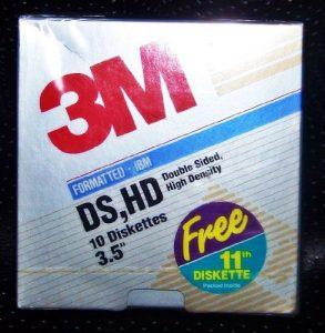 3m Double Face Haute densité 8,9cm Diskette Floppy Disc Boîte DE 10Bonus Disc = 11Garantie à Vie