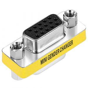 Design Professionnel Nouveau Femelle à Femelle VGA HD15 Adaptateur Convertisseur de Changeur de Sexe en Stock Argent