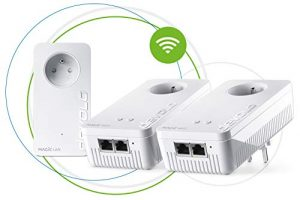 devolo Magic 2 WiFi : Multiroom Kit CPL le plus rapide au monde pour un WiFi plus fiable à travers murs et plafonds via le câble électrique, interconnexion Mesh intelligente, technologie G.hn