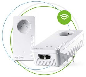 devolo Magic 2 WiFi : Starter Kit CPL le plus rapide au monde pour un WiFi plus fiable à travers murs et plafonds via le câble électrique, interconnexion Mesh intelligente, technologie G.hn innovante