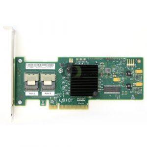IBM M1015ServeRAID LSI Sas9220–8i PCI-Express PCIe 8Ports 6Go/s SAS + Contrôleur SATA avec Prise en Charge Raid 0,1Support Pleine Hauteur 46C8933