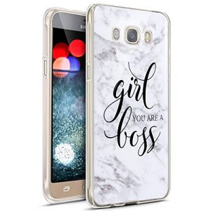 JAWSEU Coque Galaxy J5 2016,Étui Galaxy J5 2016,Galaxy J5 2016 Case, Silicone TPU Coque Mode Mignonne Lovely Motif Ultra Mince Flexible Souple Silicone Case Coque pour Galaxy J5 2016-*5