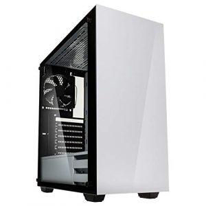 Kolink Stronghold Midi-Tower – Boîtier PC – Vitre latérale en Verre véritable – Blanc