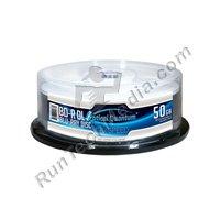 Lot de 25optique Quantum 6x 50Go BD-R DL disque vierge Blu-Ray–Argent Dessus (MPN: Oqbdrdl06st-25)