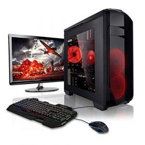 Megaport Super Méga Pack – Unité Centrale PC Gamer Complet 8-Core AMD FX-8350 • Ecran LED 22″ • Clavier et Souris Gamer • GeForce GTX 1050Ti • 16Go • 1To • Windows 10 Ordinateur de Bureau PC Gaming