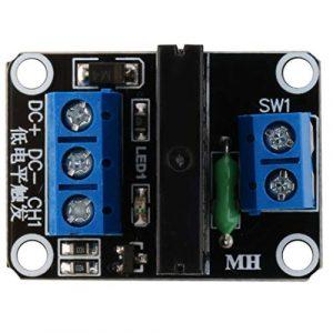 Swiftswan 5V 1 Canal OMRON SSR G3MB-202P Module de Relais à Semi-conducteurs 240V 2A Sortie avec fusible résistif pour Arduino M63 (1PCS)