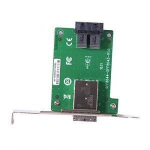 Cablecc Adaptateur Mini SAS HD SFF-8644 vers Interne SAS HD SFF-8643 PCBA Femelle avec Support Profil Bas