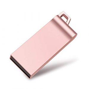 Clé USB, Kosiy Clés USB 32Go Mémoire Stick High Speed Étanche Antichoc 2.0 Flash Drive (32Go, B-Rose)