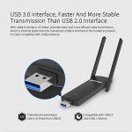 COMFAST CF-926AC Clé WiFi Adaptateur WiFi USB Carte Réseaux sans Fil 1200mbps 802.11ac / b/g/n 2.4Ghz + 5.8Ghz Dual Band Wi-FI Dongle AC pour PC Windows XP/7/8/8.1/10(32 bit,64 bit)