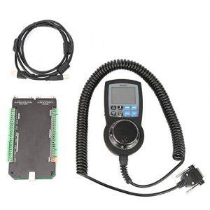 Contrôleur CNC Carte d'Interface 6 Axe NVCM MACH3 Carte de Contrôle USB Commande de Moteur Pas à Pas Numérique à Molette avec Générateur d'Impulsions Manuel