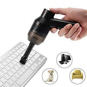 CrazyFire Aspirateur USB sans Fils Mini Rechargeable Keyboard Cleaner pour clavier, ordinateur portable, voiture, canapé et autres meubles