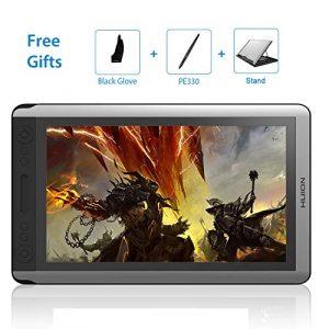 HUION HD Tablette Graphique 15,6″GT-156HD V2Actualisé à 8192Niveaux de Pression avec 14Touches d'accès Direct Personnalisables et câble Trois-en-Un