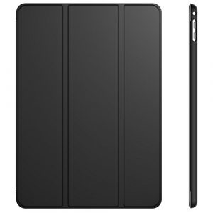 JETech Étui pour iPad Air 2, Coque avec Support Fonction et Veille/Réveil Automatique, Noir