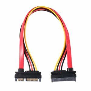 7 + 15 Broches série SATA câble d'alimentation Combo Extension câble 1pc câble d'adaptateur d'alimentation série, TA SATA au câble HDD ToGames-FR