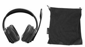 AmazonBasics Casque de jeu professionnel avec microphone pour PC, Noir