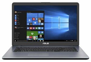 Asus Vivobook R702QA-BX003T PC Portable 17″ HD Gris (AMD A10, RAM 4Go, HDD 1 to + SSD 128Go, Windows 10) Clavier AZERTY Français